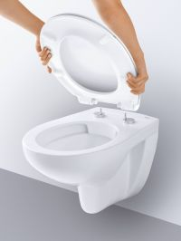Унитаз GROHE BAU Ceramic Подвесной безободковый, альпин-белый Артикул: