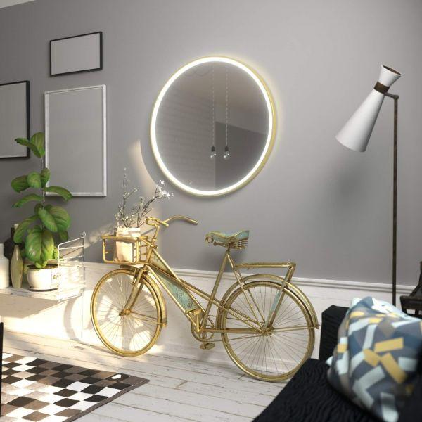 Зеркало LUPE PLUS GOLD MCJ  кр_D=80 см
